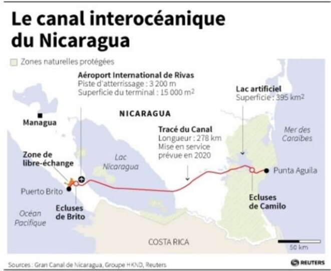 Canal Nicaragua © Reuters