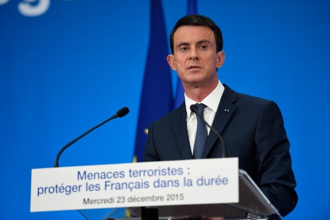 Prime minister Manuel Valls presented the reform on December 23rd, 2015. © Reuters