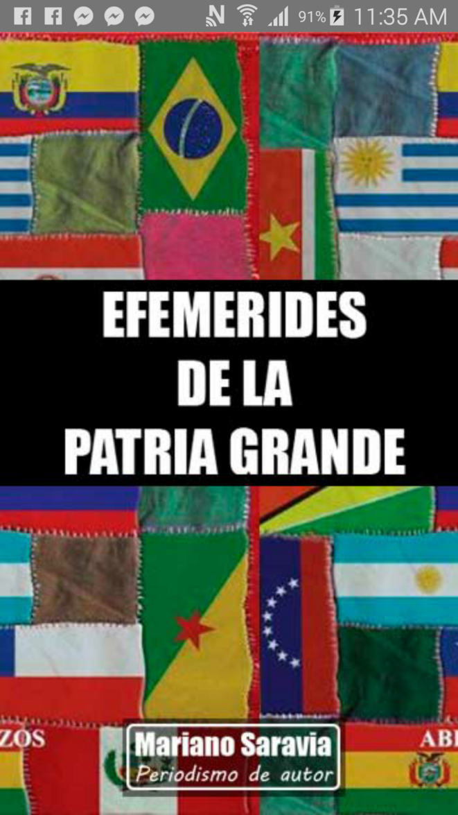 Efemerides de la Patria Grande. © Mariano Saravia. (Cordobà, Argentina).
