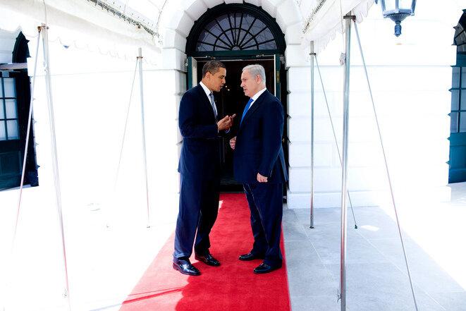 Obama y Netanyahou en Washington en mayo de 2009. © Pete Souza/Casa Blancaete Souza/Maison-Blanche