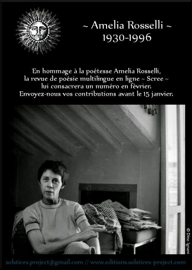 Amelia Rosselli - revue Scree - Les éditions Solstices