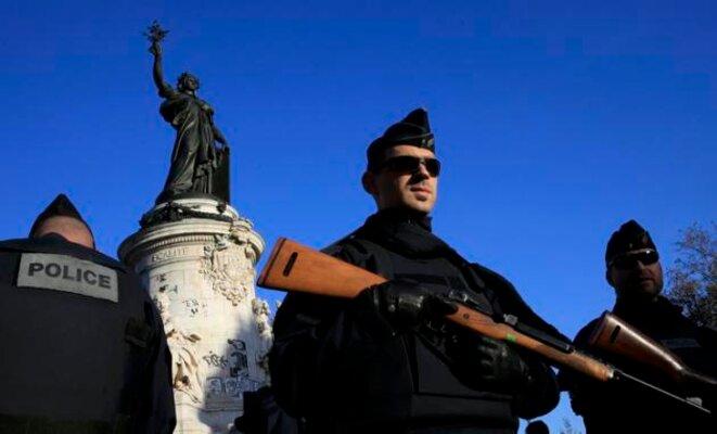 Place de la République, à Paris, le 15 novembre © Reuters