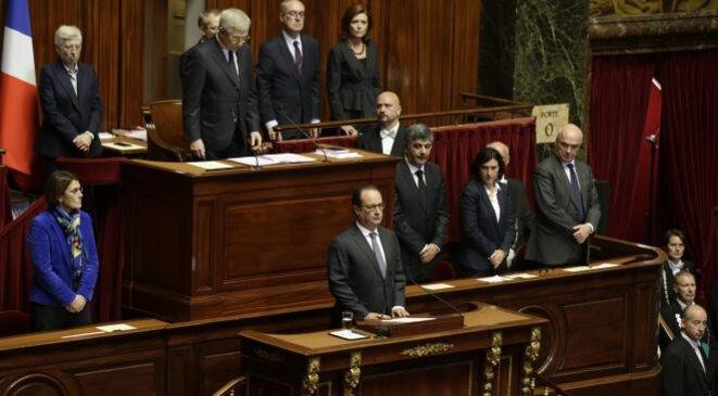 François Hollande lors de son discours devant le Congrès © Reuters