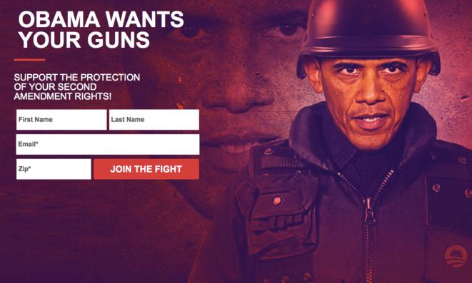La page web créée par le républicain Ted Cruz en réaction à l'annonce de Barack Obama.