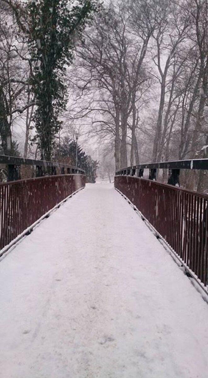 Pont enneigé -Wolfenbüttel