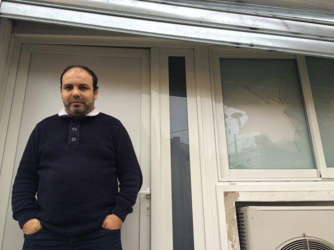 Abdel-Mounim el-Khalfioui, le responsable de la salle de prières vandalisée. © ES