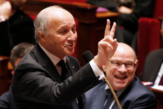 Laurent Fabius, le 10 novembre 2015, à l'Assemblée nationale. © Reuters