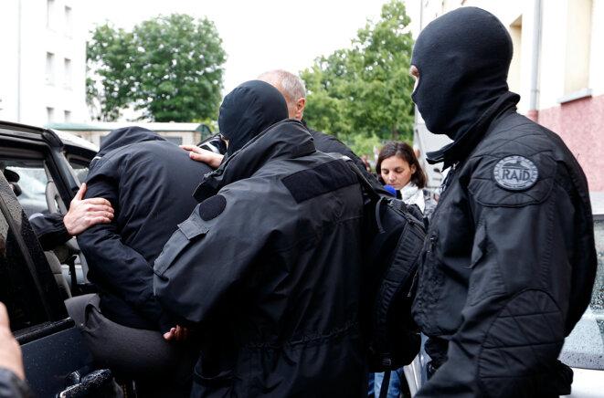 Opération antiterroriste en 2014 dans un quartier de Strasbourg. © Reuters