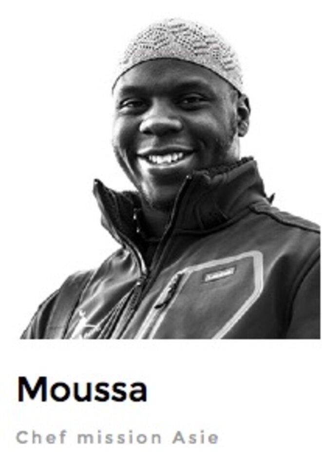 """Moussa Ibn Yacoub de son nom de musulman converti © Capture d'écran de la page """"Notre équipe"""" du site de @barakacity"""