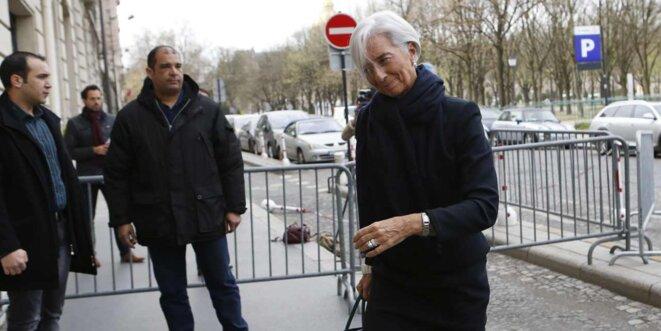 Christine Lagarde arrive devant la Cour, le 19 mars 2014. © Reuters