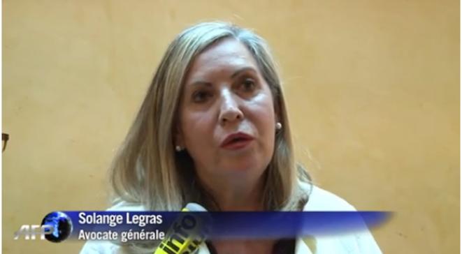 Solange Legras, avocate générale de la chambre d'instruction d'Aix-en-Provence, chargée du service international © Capture d'écran AFP TV