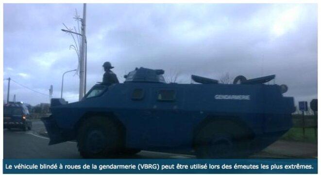 Blindé de la gendarmerie © NC