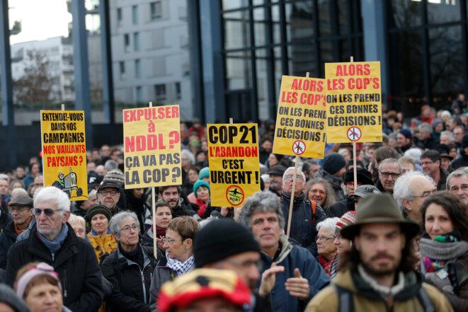 Manifestation à Nantes, mercredi 13 janvier 2016. © Reuters