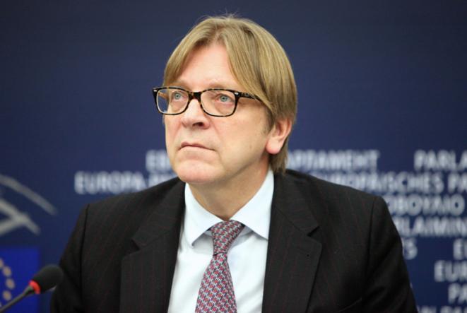 Guy Verhofstadt, ex-premier ministre belge, président du groupe des libéraux (ALDE), a présidé les négociations sur le « mieux légiférer » pour le compte du parlement européen. ©PE.