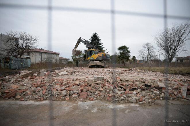 4 jours après l'expulsion, plus rien ne subsiste de l'habitation. © Patrick Batard