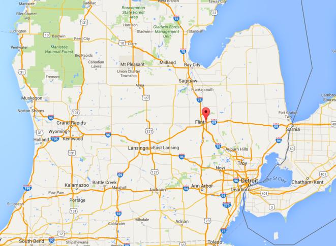 Juste au cas où, mais Flint, c'est là. © Google Map