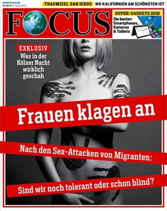 En choissant cette couverture pour documenter les agressions sexistes ayant eu lieu à Cologne, le magazine allemand Focus a provoqué la polémique.