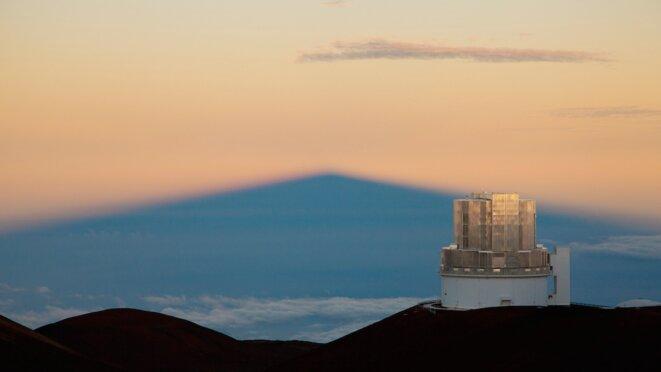 Le télescope de 8 mètres Subaru, sur le Mauna Kea à Hawaii, permettra peut-être de détecter la neuvième planète © Science