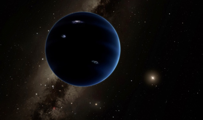 Vue artistique de l'hypothétique neuvième planète évoluant vers le Soleil © Caltech/R. Hurt (IPAC)