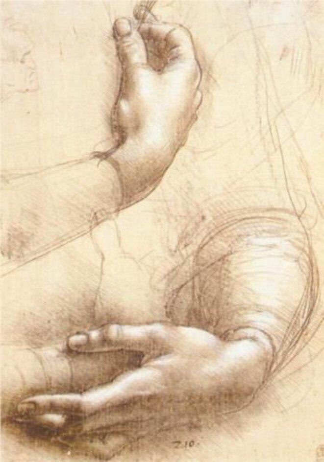 Etude de mains © Léonard de Vinci