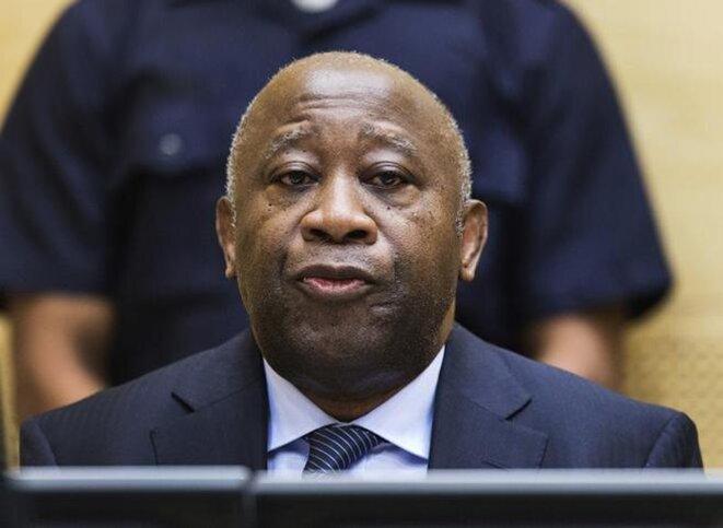 Laurent Gbagbo lors d'une de ses comparutions devant la CPI en 2014. © Reuters
