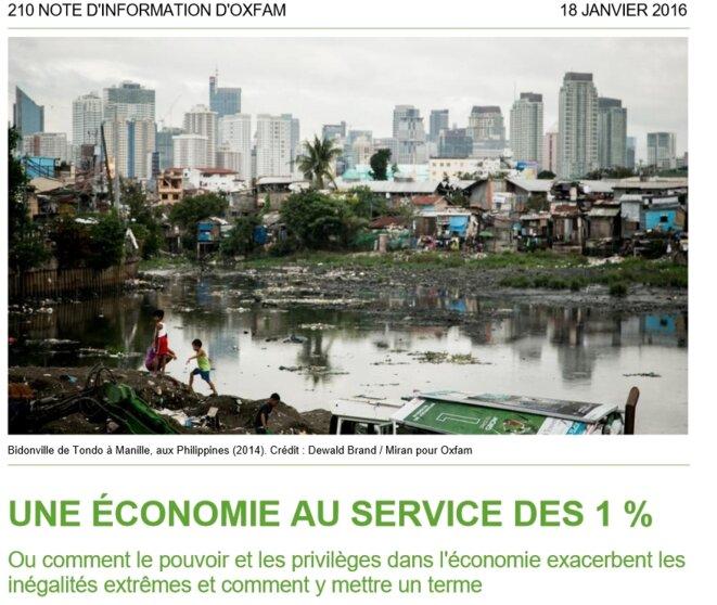 Rapport de l'Oxfam 2016