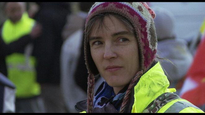 Agathe Martin, gréviste à l'usine PSA d'Aulnay pendant la lutte © Les Films du Balibari