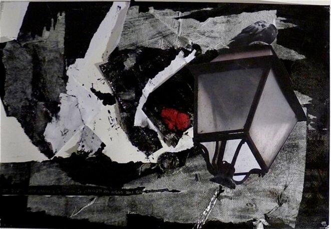 En allant voir Kiefer à Pompidou, je cherchais des repères dans Paris déconstruit. Technique mixte sur papier. 38x56cm © ARySQUE