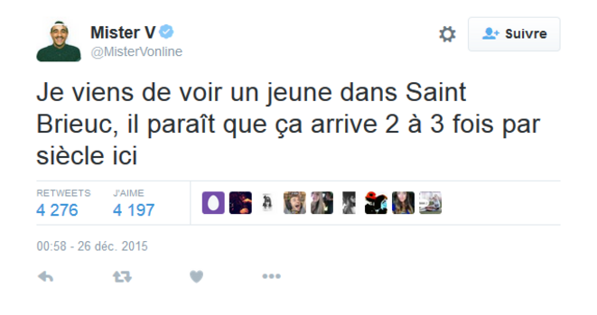 Le tweet assassin de Mister V