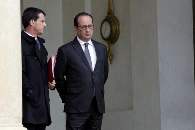 A l'Elysée, samedi 14 novembre 2015. © Reuters