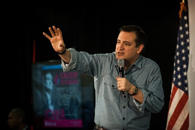 Ted Cruz à Iowa City, dimanche 31 janvier 2016 © Thomas Cantaloube