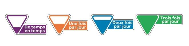 """Le logo """"A quelle fréquence"""" préconisé par Carrefour et soutenu par l'Ania © DR"""