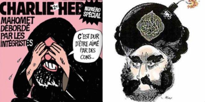 Deux dessins de « Charlie-Hebdo »