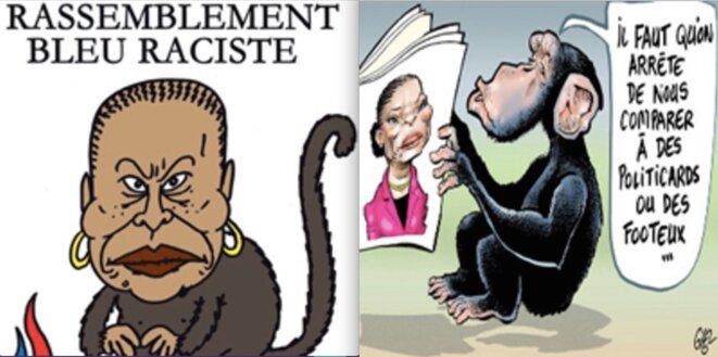 Dessins de Charb et de Glez parus dans « Charlie-Hebdo »