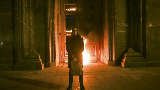 Loubianka en feu © Pavlensky