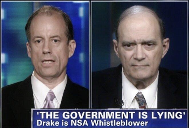 Les trois lanceurs d'alerte de la NSA, Thomas Drake, William Binney et Edward Snowden dans Nothing to Hide © CNN