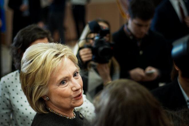 Hillary Clinton dans le New Hampshire, le 3 février 2016. © Thomas Cantaloube