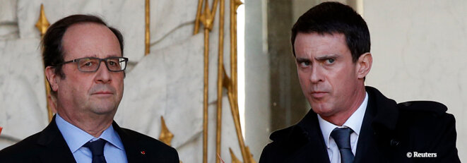 Caught in their own trap? President François Hollande and prime minister Manuel Valls.