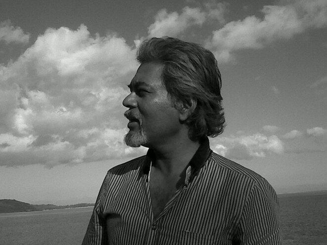 Khal Torabully, Morne Brabant, Maurice, mai 2012.