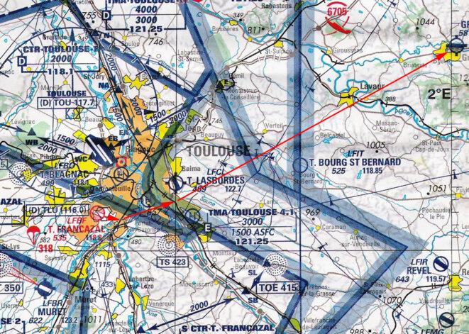 vol-cessna-francazal-graulhet-sur-carte-aerienne