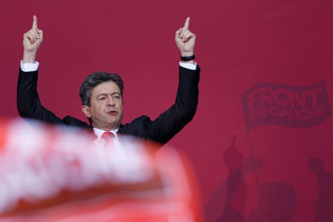 Jean-Luc Mélenchon, en campagne présidentielle, le 4 mai 2012 © Reuters