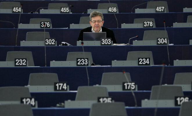 Jean-Luc Mélenchon au parlement européen, en janvier 2016 © Reuters