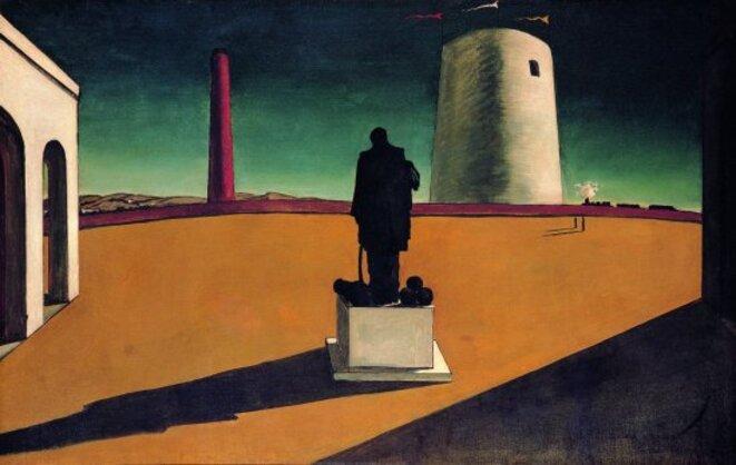 Giorgio De Chirico, L'énigme du jour (1914) © MAM (2009)