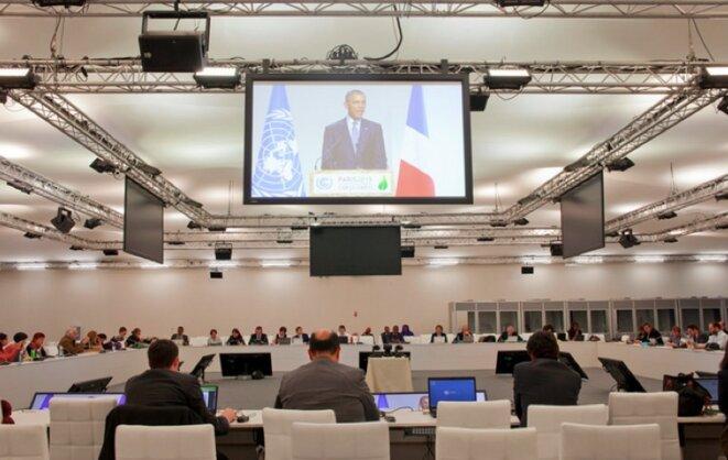Barack Obama, lors du premier jour de la COP21 © Collectif À-vif(s)
