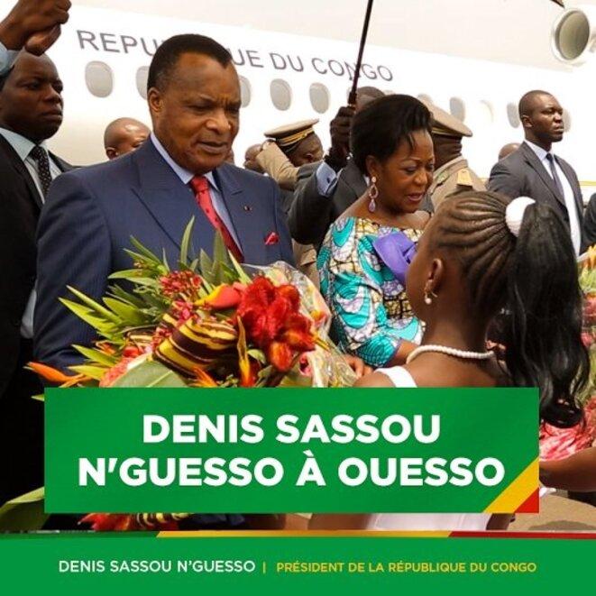 Denis SASSOU N'GUESSO, accueilli à Ouesso le 10 février © D.R.
