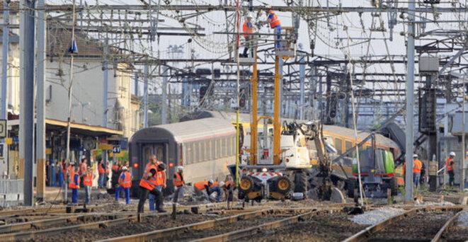 L'accident de Brétigny a fait sept morts et une trentaine de blessés le 12 juillet 2013 © Reuters