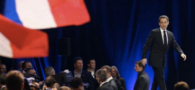 Le candidat Sarkozy lors de son premier gros meeting de 2012 à Marseille © Reuters