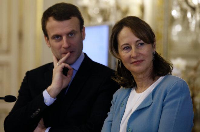 Ségolène Royal et Emmanuel Macron © Reuters
