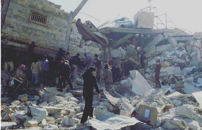 Les ruines de l'hôpital de MSF bombardé lundi. © (MSF)