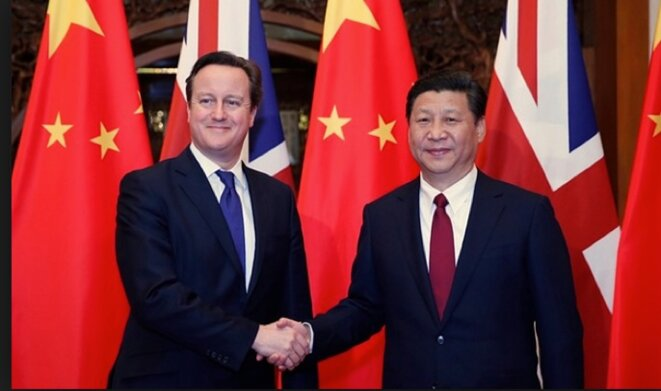 David Cameron et Xi Jinping © Guardian